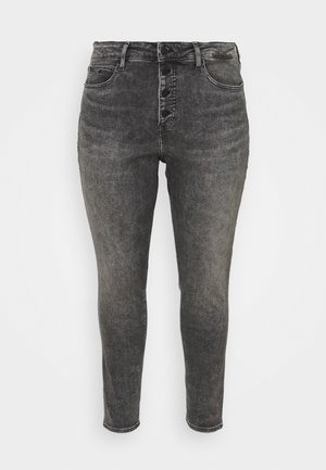 HIGH RISE ANKLE  - Jeans Skinny Fit - denim grey