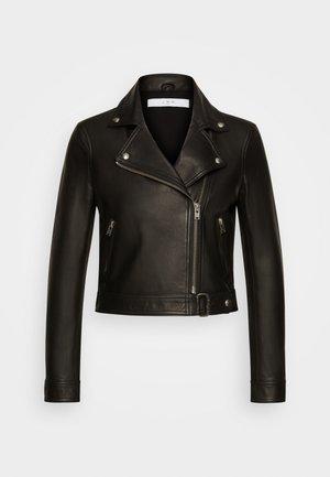 KOLMAR - Kožená bunda - black
