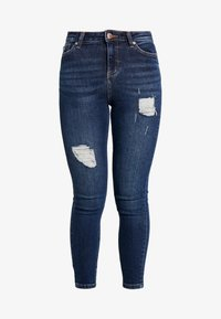 Miss Selfridge Petite - LIZZIE - Jeans Skinny Fit - dark blue denim - 3