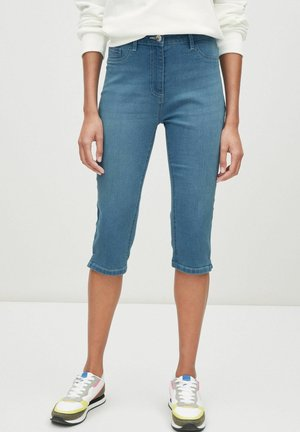 PEDAL PUSHERS - Trousers - blue