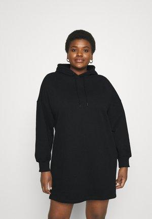 HOODIE DRESS - Day dress - black