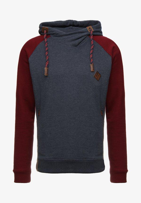 INDICODE JEANS DYOTT - Bluza z kapturem - bordeaux mix/bordowy melanż Odzież Męska TYFQ