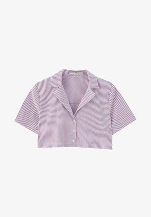 Button-down blouse - mauve
