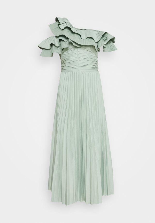 ONE SHOULDER PLEATED SKIRT DRESS - Cocktail dress / Party dress - sage