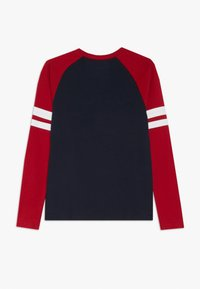 Abercrombie & Fitch - FOOTBALL TEE - Long sleeved top - navy/red