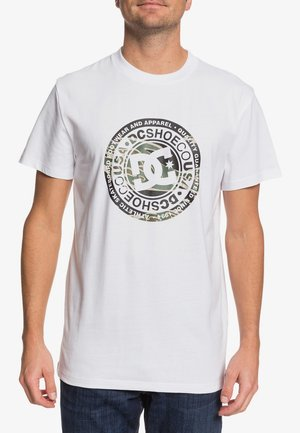 CIRCLE STAR  - Print T-shirt - snow white