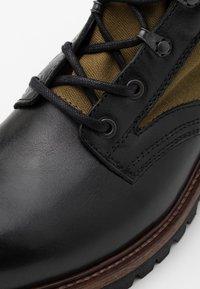 Belstaff - TROOPER BOOT - Šněrovací kotníkové boty - black - 5