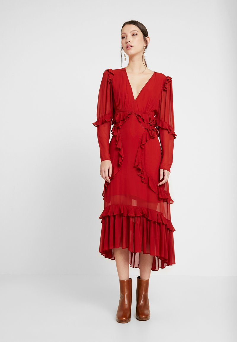 Thurley - PLUM DRESS - Suknia balowa - dried chilli