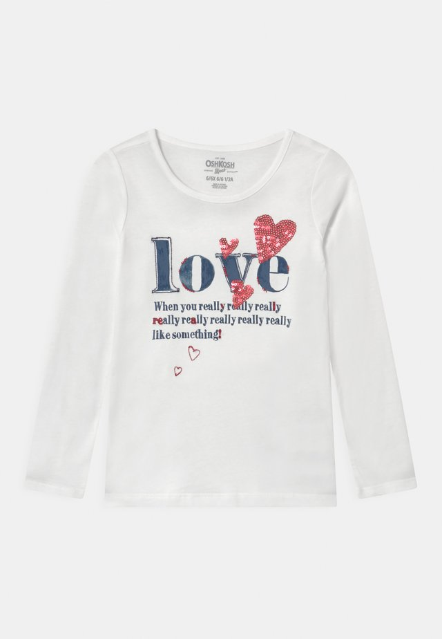 VDAY - Camiseta de manga larga - white
