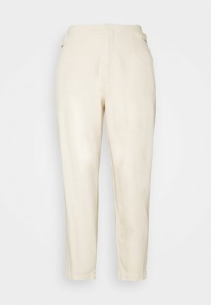 PLEATED TROUSERS - Relaxed fit jeans - winter dune