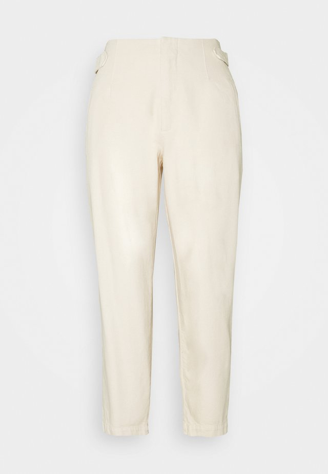 PLEATED TROUSERS - Jeans baggy - winter dune