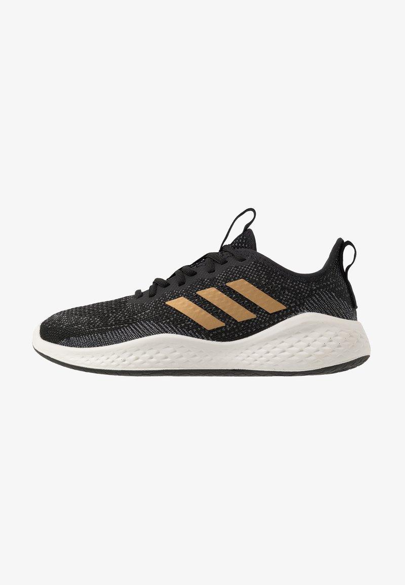 adidas Performance - FLUIDFLOW - Neutral running shoes - core black/tactile gold metallic/grey six