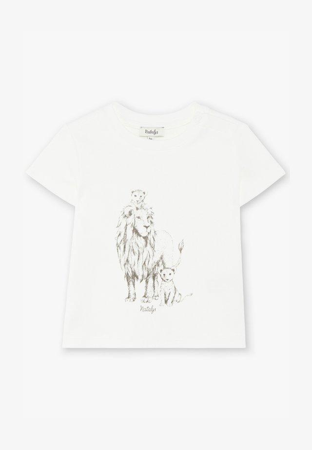 T-shirt print - yellow