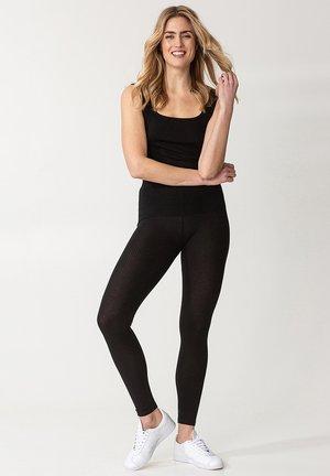BONNIE RIB - Leggings - Trousers - black