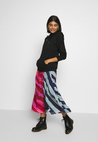 House of Holland - STRIPE GATHERED MIDI SKIRT  - A-line skirt - pink/blue - 1
