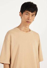 Bershka - T-shirts basic - beige - 3