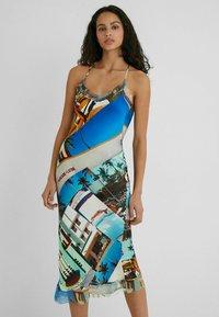 Desigual - DESIGNED BY ESTEBAN CORTAZAR - Shift dress - blue - 0