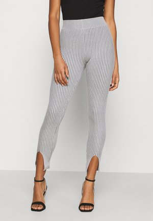 TONE SPLIT FRONT - Leggings - Trousers - grey