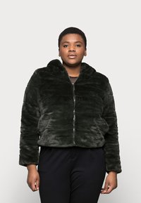 ONLY Carmakoma - CARCHRIS HOODED JACKET - Light jacket - dark green - 0