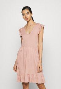 JDY - JDYDITTE V NECK DRESS - Jersey dress - rose - 0