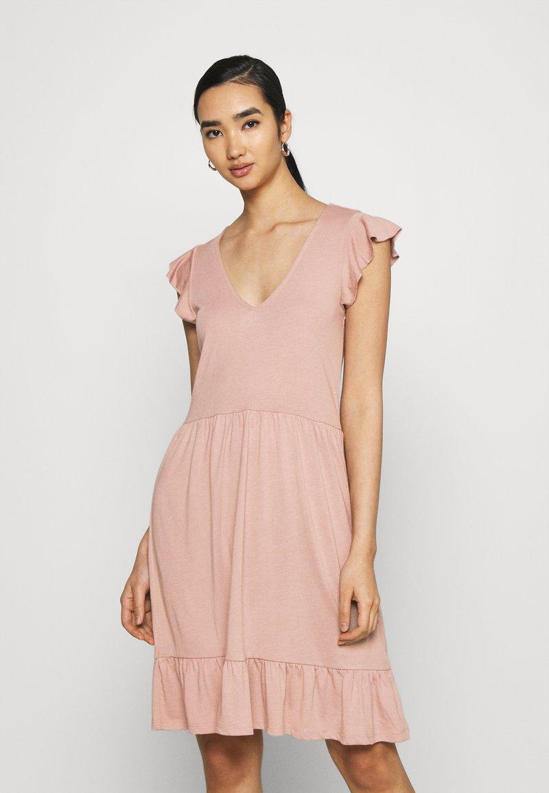 JDY - JDYDITTE V NECK DRESS - Jersey dress - rose