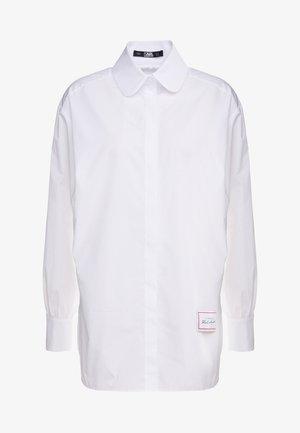 CLASSIC KARL POPLIN - Button-down blouse - white