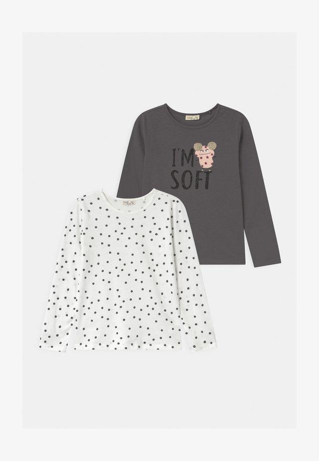 2 PACK - Langærmede T-shirts - frost gray