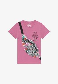 Lemon Beret - SMALL GIRLS - Print T-shirt - fushia pink - 2