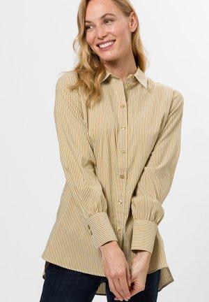 MIT STREIFEN - Button-down blouse - brass