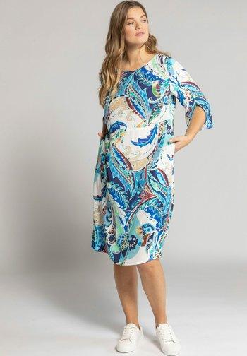 Day dress - lapis blue multi