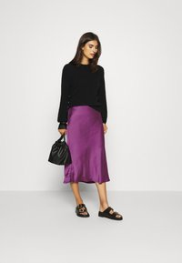 Expresso - HIRA - A-line skirt - dark violet - 1
