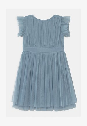 GATHERED WITH BOW - Vestido de cóctel - cornflower blue