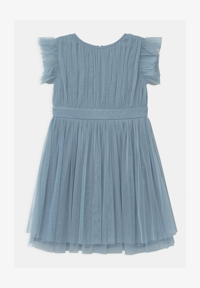 GATHERED WITH BOW - Cocktail dress / Party dress - cornflower blue