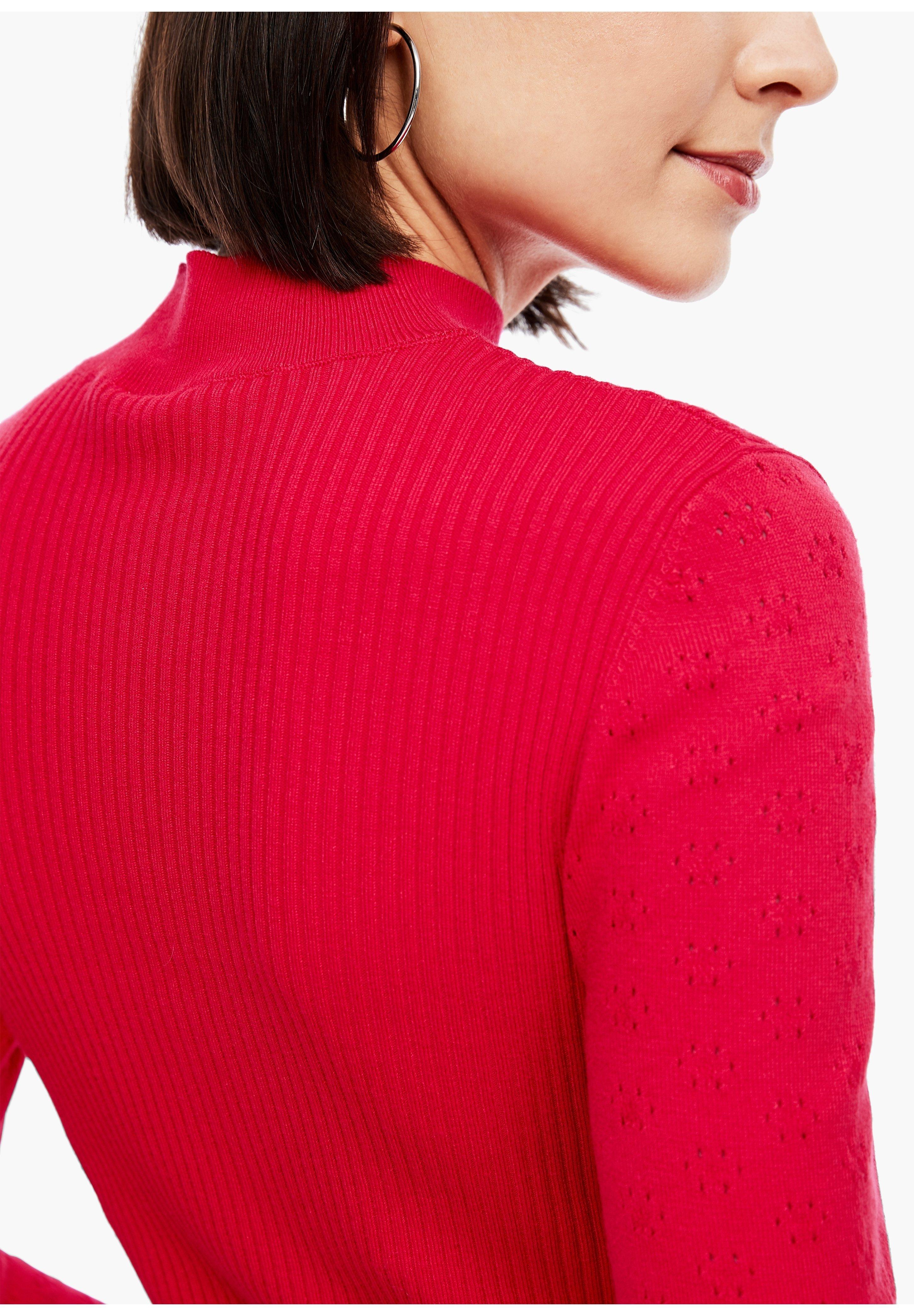 Q/S designed by MIT STRUKTURMUSTER - Trui - crimson red - Dames jas Aanbod