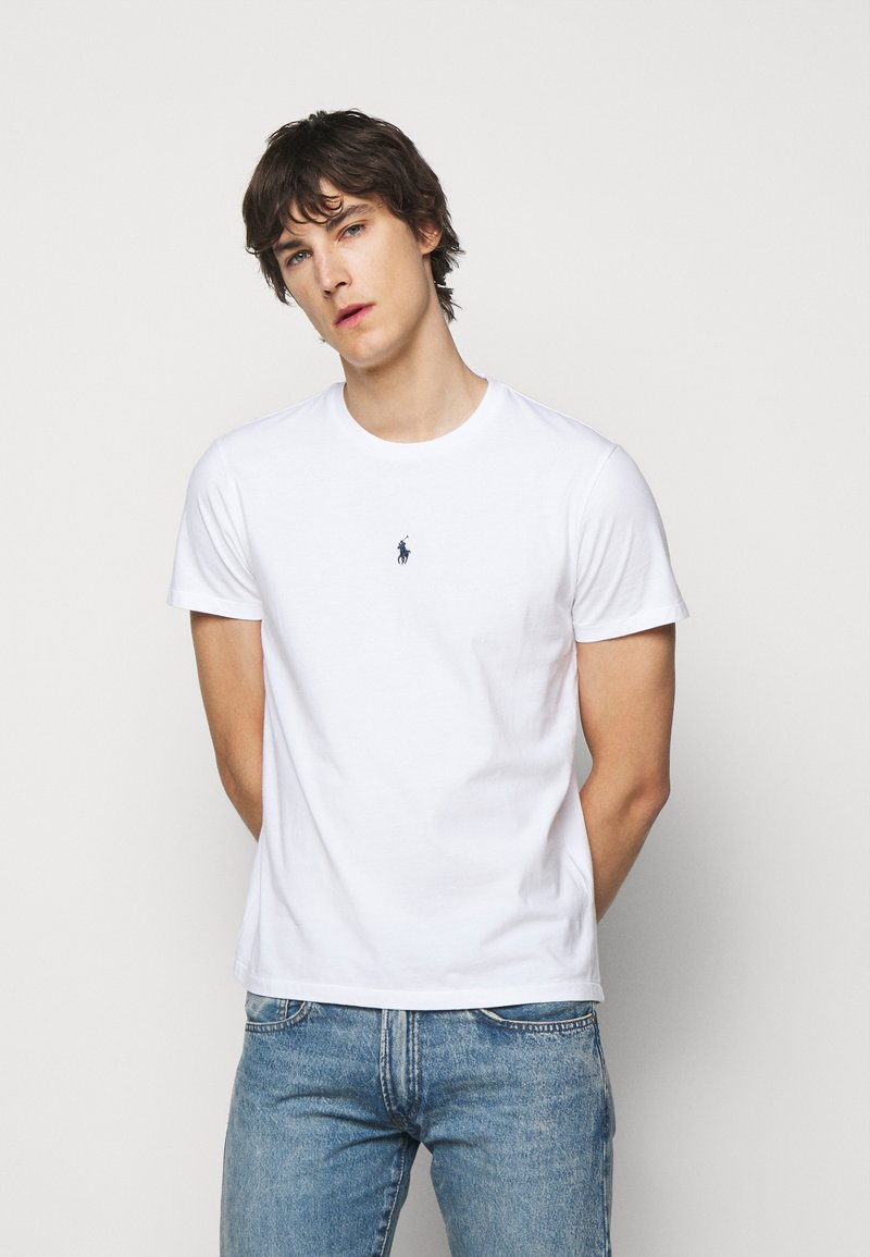 Polo Ralph Lauren - CUSTOM SLIM FIT JERSEY T-SHIRT - T-shirt basic - white