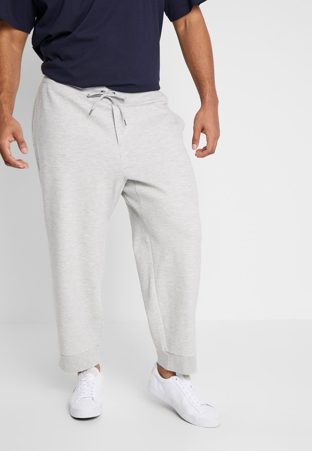 DOUBLE KNIT TECH - Tracksuit bottoms - sport heather