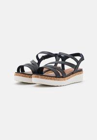 Tamaris GreenStep - Platform sandals - navy - 2