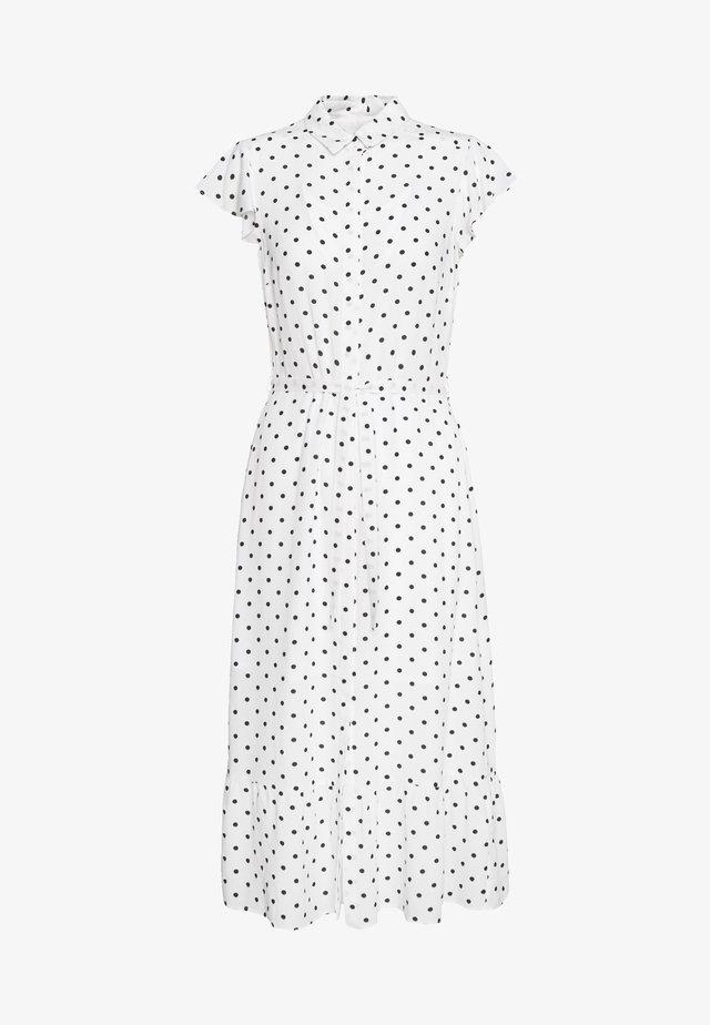SPOT PEPLUM SHIRT DRESS - Košilové šaty - ivory