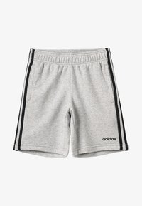 adidas Performance - BOYS ESSENTIALS 3STRIPES SPORT 1/4 SHORTS - Pantaloncini sportivi - medium grey heather/black - 3