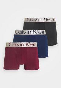 Calvin Klein Underwear - TRUNK 3 PACK - Culotte - blue - 0