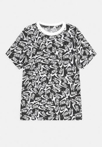 TEE FUTURA - Print T-shirt - black/white