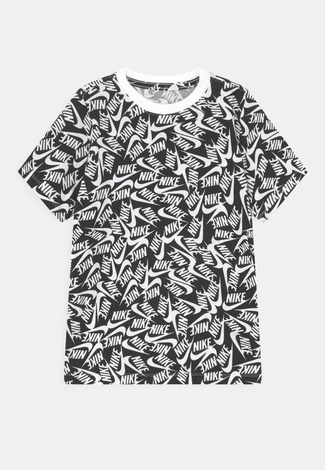 TEE FUTURA - T-shirt z nadrukiem - black/white