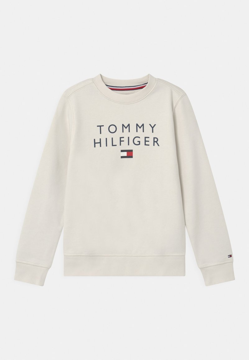 Tommy Hilfiger - FLAG CREWNECK - Felpa - ivory