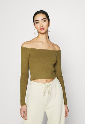 OFF SHOULDER - Jersey de punto - khaki