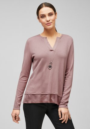 MIT SATIN-BLENDE - Jumper - pale pink