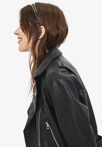 Bershka - Faux leather jacket - black - 3