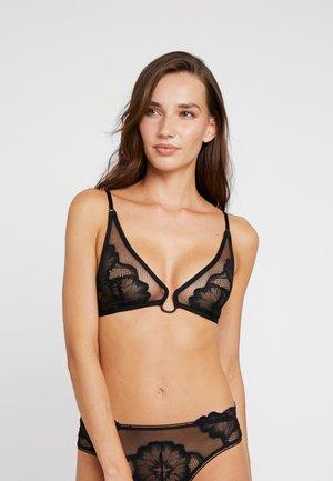 UNLINED TRIANGLE - Triangle bra - black