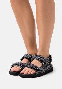 ALOHAS - HOOK LOOP  - Sandals - black - 0