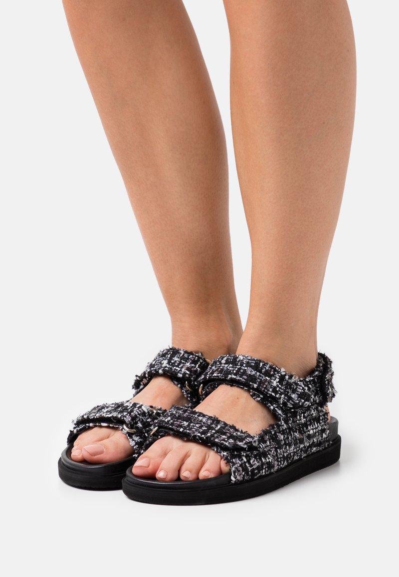 ALOHAS - HOOK LOOP  - Sandals - black