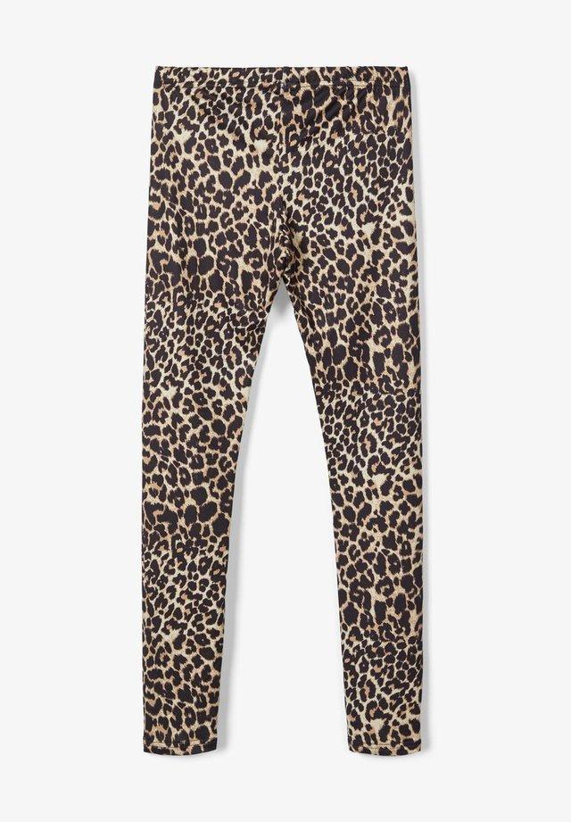 LMTD LEGGINGS LEOPARDENPRINT - Leggings - Trousers - black